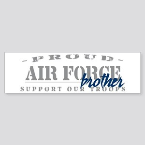 Proud Air Force Brother (Blue) Bumper Sticker