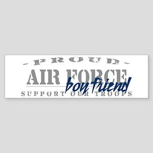 Proud Air Force Boyfriend (Blue) Bumper Sticker