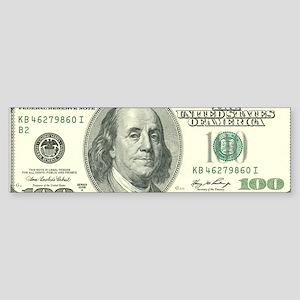 US 100 Bill Sticker (Bumper)