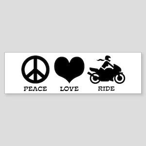 Peaceloveridefemale Bumper Sticker