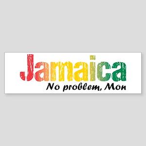 Jamaica No Problem tri Sticker (Bumper)