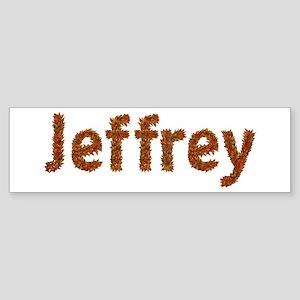 Jeffrey Fall Leaves Bumper Sticker