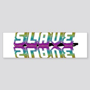 SLAVE-RAINBOW/MIRROR/OUTLINE Bumper Sticker