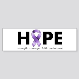 Purple Ribbon Hope Sticker (Bumper)