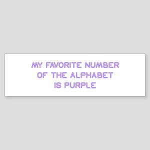 my-favorite-number-so-purple Bumper Sticker