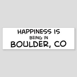 Happiness is Boulder Bumper Sticker