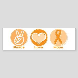 Peace Love Orange Hope Sticker (Bumper)