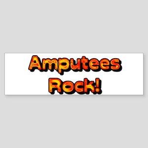 Amputees Rock! Sticker (Bumper)