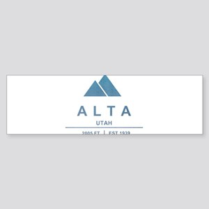 Alta Ski Resort Utah Bumper Sticker