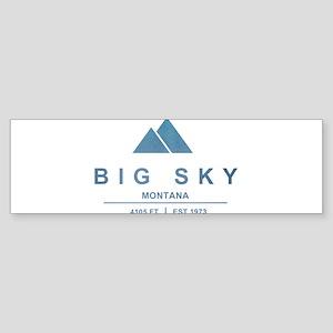 Big Sky Ski Resort Montana Bumper Sticker