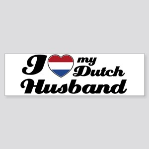I love my Dutch Husband Bumper Sticker