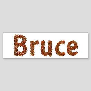 Bruce Fall Leaves Bumper Sticker