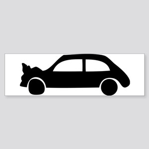 black crash car Bumper Sticker