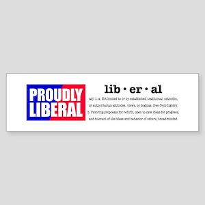 Proudly Liberal Bumper Sticker