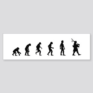 Evolution of Bagpipes Bumper Sticker