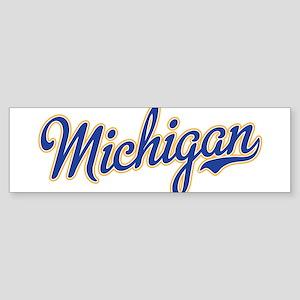 Michigan Script Font Bumper Sticker