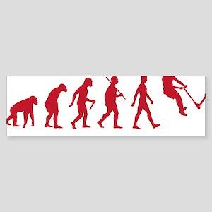 Darwin Ape to man Evolution Push  Sticker (Bumper)