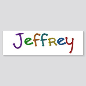 Jeffrey Play Clay Bumper Sticker
