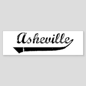 Asheville (vintage) Bumper Sticker