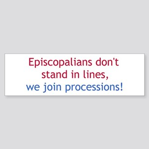 Lines and Processions Bumper Sticker