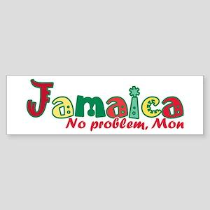 Jamaica No Problem Sticker (Bumper)