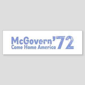 McGovern '72 Bumper Sticker
