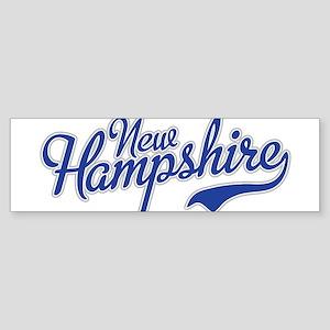 New Hampshire Script Font Bumper Sticker
