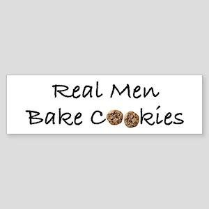 Real Men Bake Cookies Bumper Sticker