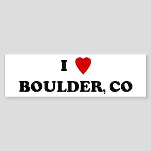I Love Boulder Bumper Sticker