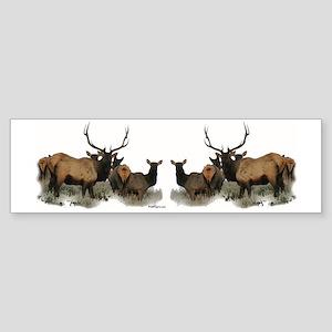 Elk herd Sticker (Bumper)