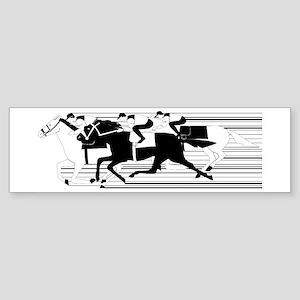 HORSE RACING! Bumper Sticker