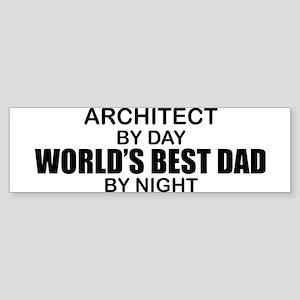 World's Greatest Dad - Architect Sticker (Bumper)