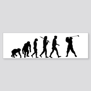Evolution of Golf Bumper Sticker