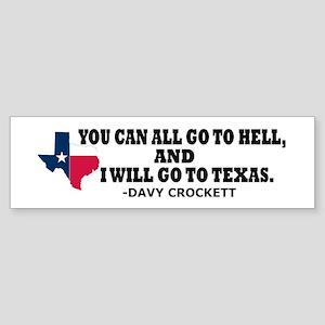 DAVY CROCKETT Sticker (Bumper)