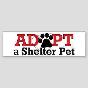 Adopt a Shelter Pet Sticker (Bumper)
