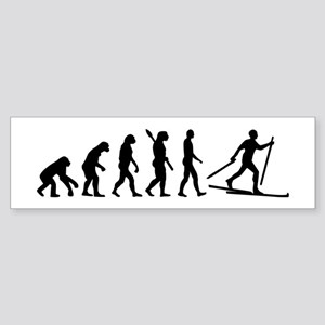 Evolution Cross country skiing Sticker (Bumper)
