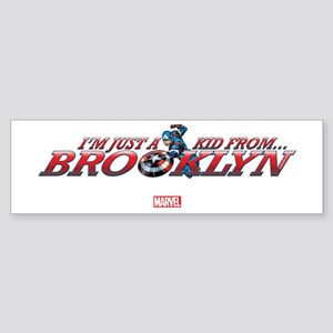 Captain America Kid from Brooklyn Sticker (Bumper)