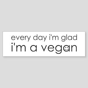 Glad Vegan Sticker (Bumper)