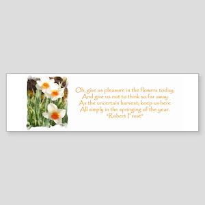White Daffodils & Poem Bumper Sticker