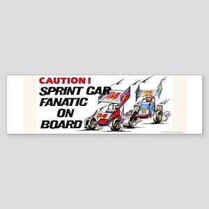 Sprint Car Fanatic Bumper Sticker