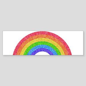 Sparkle Rainbow Bumper Sticker