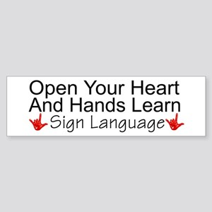 Open Your Heart And Hands Lea Bumper Sticker