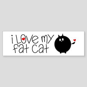 I Love My Fat Cat Sticker (Bumper)