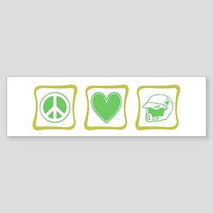 Peace, Love and Dirt Bikes Sq Sticker (Bumper)