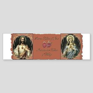 2 Sacred Hearts Bumper Sticker
