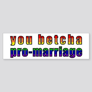 You Betcha - Sticker (Bumper)