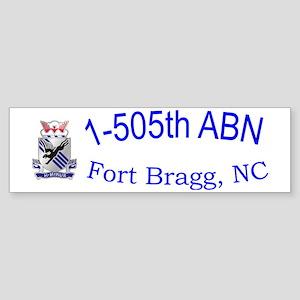 1st Bn 505th ABN Cap Sticker (Bumper)