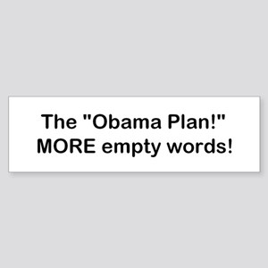 Obama Plan! Sticker (Bumper)