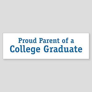 Proud College Parent Bumper Sticker