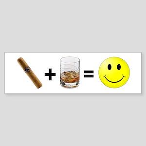 Cigar & Bourbon Bumper Sticker